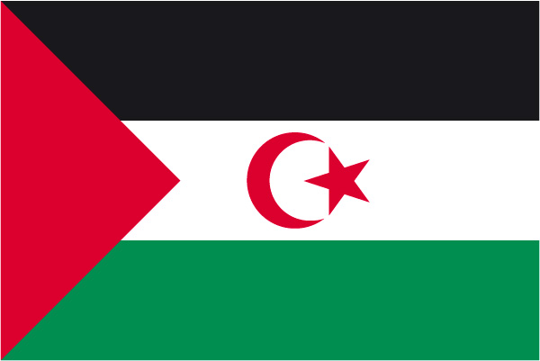Bandera de la RASD y países han reconocido a la RASD