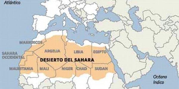 montañas del sahara y regiones del desierto del sahara