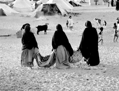 Imagen del éxodo saharaui