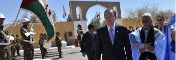 Ban Ki-moon visita los campamentos de refugiados saharauis