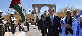 Ban Ki-moon visita los campamentos de refugiados saharauis en Tinduf