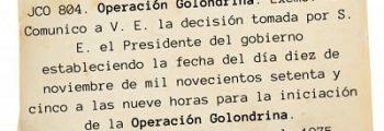 Se ordena la Operación Golondrina